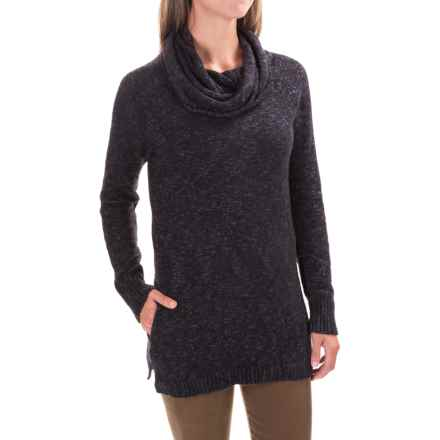 ExOfficio Lorelei Infinity Cowl Neck Sweater (For Women) in Black Heather - Closeouts