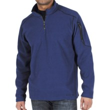 ExOfficio Make My Day Fleece Pullover - Zip Neck (For Men) in Maritime - Closeouts