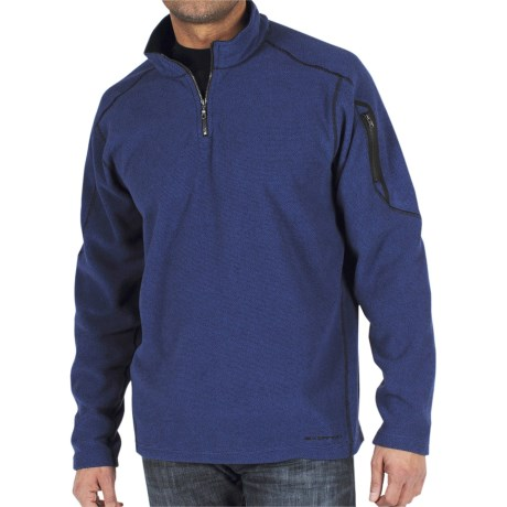 ExOfficio Make My Day Fleece Pullover - Zip Neck (For Men) in Maritime
