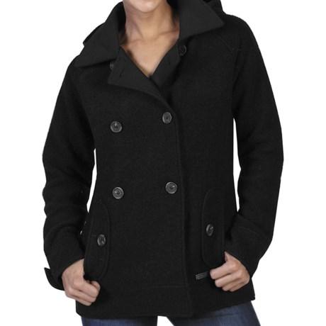 ExOfficio Medelton Pea Coat - Wool Blend (For Women) in Slate Heather