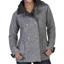 ExOfficio Medelton Pea Coat - Wool Blend (For Women) in Slate Heather - Closeouts