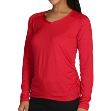 ExOfficio Micria Shirt - UPF 15+, V-Neck, Long Sleeve (For Women) in Kinetic - Closeouts