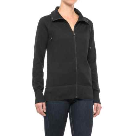 ExOfficio Milena Hoodie - Zip Front (For Women) in Black Heather - Closeouts