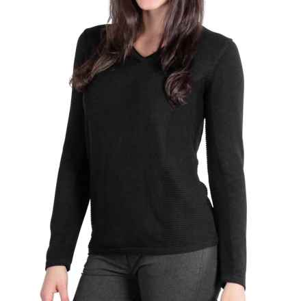 ExOfficio Milena Sweater - V-Neck, Long Sleeve (For Women) in Black - Closeouts