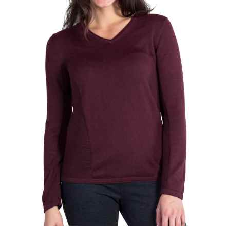 ExOfficio Milena Sweater - V-Neck, Long Sleeve (For Women) in Brandy - Closeouts