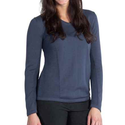 ExOfficio Milena Sweater - V-Neck, Long Sleeve (For Women) in Shadow - Closeouts