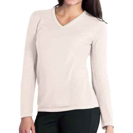 ExOfficio Milena Sweater - V-Neck, Long Sleeve (For Women) in Vellum - Closeouts