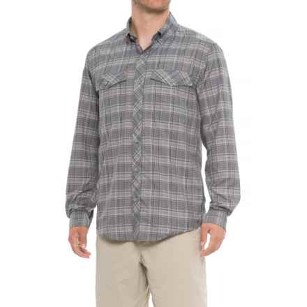 ExOfficio Minimo Plaid Shirt - UPF 50, Long Sleeve (For Men) in Cement - Closeouts