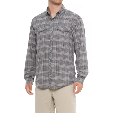 ExOfficio Minimo Plaid Shirt - UPF 50, Long Sleeve (For Men) in Cement