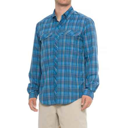 ExOfficio Minimo Plaid Shirt - UPF 50, Long Sleeve (For Men) in Navy - Closeouts