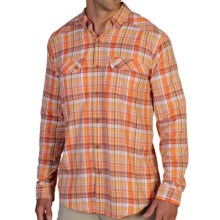 ExOfficio Minimo Plaid Shirt - UPF 50+, Long Sleeve (For Men) in Aurora - Closeouts