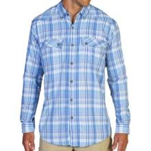 ExOfficio Minimo Plaid Shirt - UPF 50+, Long Sleeve (For Men) in Malibu - Closeouts