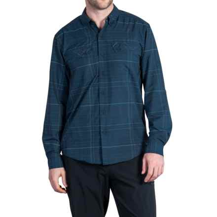 ExOfficio Minimo Plaid Shirt - UPF 50+, Long Sleeve (For Men) in Navy - Closeouts