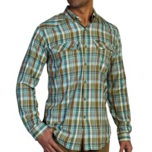 ExOfficio Minimo Plaid Shirt - UPF 50+, Long Sleeve (For Men) in Petrol - Closeouts