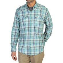 ExOfficio Minimo Plaid Shirt - UPF 50+, Long Sleeve (For Men) in Riviera - Closeouts