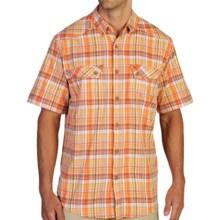 ExOfficio Minimo Plaid Shirt - UPF 50+, Short Sleeve (For Men) in Aurora - Closeouts