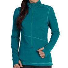 ExOfficio Mokha Shirt - Zip Neck, Long Sleeve (For Women) in Aquatic - Closeouts