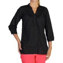 ExOfficio Next-to-Nothing Artisan Shirt - 3/4 Sleeve (For Women) in Black - Closeouts