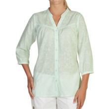ExOfficio Next-to-Nothing Artisan Shirt - 3/4 Sleeve (For Women) in Opaline - Closeouts