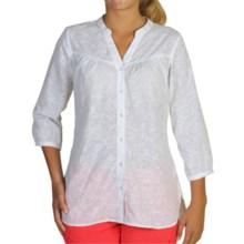 ExOfficio Next-to-Nothing Artisan Shirt - 3/4 Sleeve (For Women) in White - Closeouts