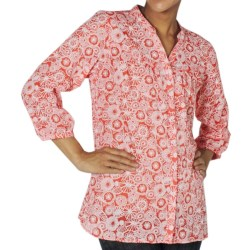 ExOfficio Next-to-Nothing Artisan Shirt - Burnout, 3/4 Sleeve (For Women) in Lychee
