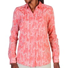 ExOfficio Next-to-Nothing Chiffon Shirt - Button Up, Long Sleeve (For Women) in Nectar - Closeouts