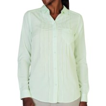 ExOfficio Next-to-Nothing Chiffon Shirt - Button Up, Long Sleeve (For Women) in Opaline - Closeouts