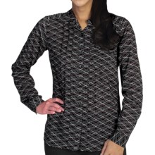 ExOfficio Next-to-Nothing Chiffon Shirt - Long Sleeve (For Women) in Dark Pebble - Closeouts