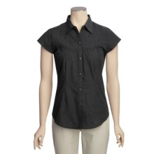 ExOfficio Next-to-Nothing Hanja Flora Shirt - Short Sleeve (For Women) in Black - Closeouts