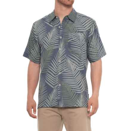 ExOfficio Next to Nothing Pindo Print Shirt - Short Sleeve (For Men) in Indigo Wash - Closeouts