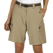 ExOfficio Nio Amphi Nylon Shorts - UPF 50+ (For Women) in Light Khaki - Closeouts