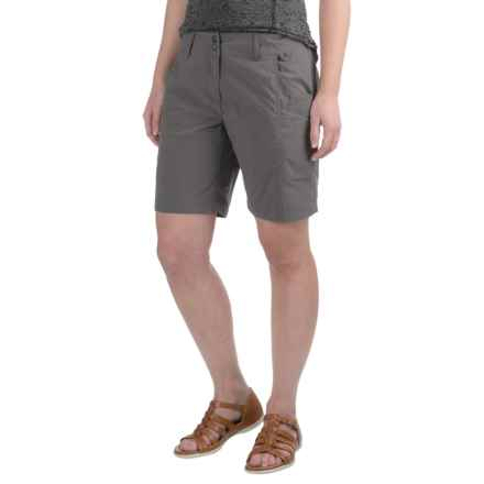 ExOfficio Nomad Flat-Front Shorts (For Women) in Slate - Closeouts