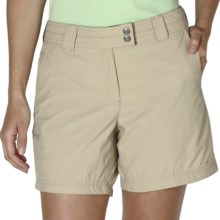 "ExOfficio Nomad Shorts - UPF 30+, 6"" (For Women) in Light Khaki - Closeouts"