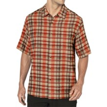 ExOfficio Now Boarding Plaid Shirt - Short Sleeve (For Men) in Habanero - Closeouts