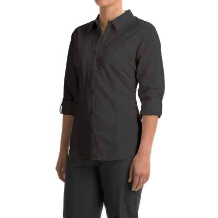 ExOfficio Percorsa Shirt - UPF 30+, Long Sleeve (For Women) in Black - Closeouts