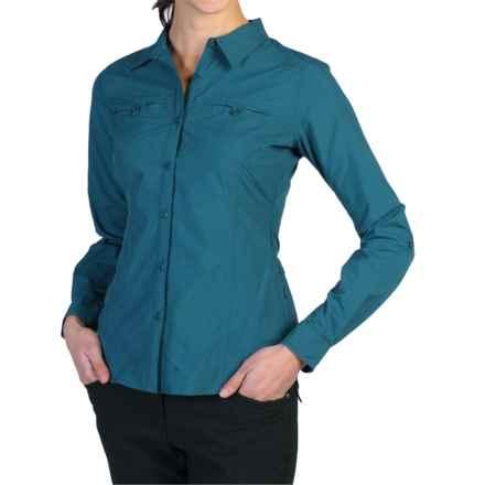 ExOfficio Percorsa Shirt - UPF 30+, Long Sleeve (For Women) in Marina - Closeouts