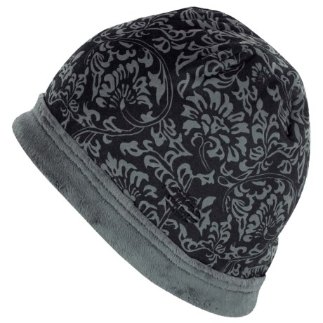 ExOfficio Persian Print Beanie Hat - Fleece (For Women) in Dark Pebble