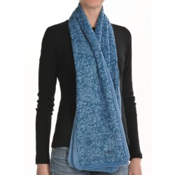 ExOfficio Persian Print Fleece Scarf - Reversible (For Women) in Baltic