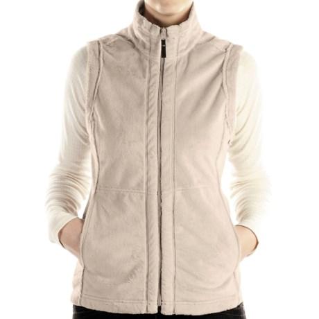 ExOfficio Persian Print Fleece Vest (For Women) in Stone