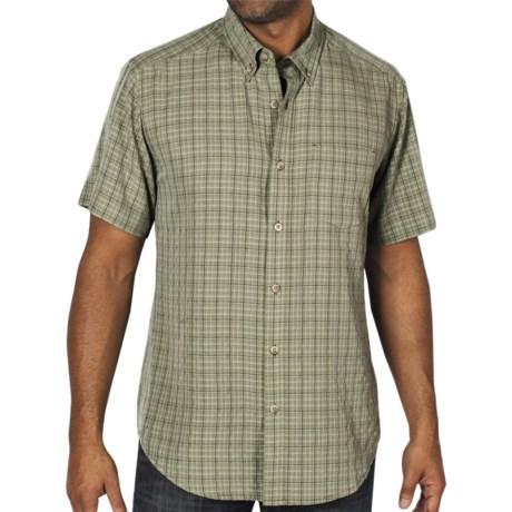 ExOfficio Pisco Micro-Plaid Shirt - Short Sleeve (For Men) in Blue Jean