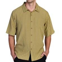 ExOfficio Pisco Micro-Plaid Shirt - Short Sleeve (For Men) in Oregano - Closeouts
