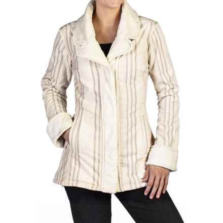 ExOfficio Plush Printed Coat - Snap Front (For Women) in Vellum - Closeouts