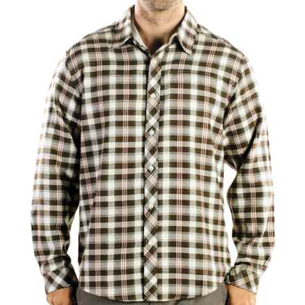ExOfficio Pocatello Plaid Macro Shirt - Long Sleeve (For Men) in Dark Ivy - Closeouts