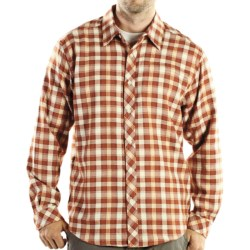 ExOfficio Pocatello Plaid Macro Shirt - Long Sleeve (For Men) in Rust