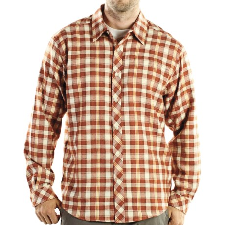 ExOfficio Pocatello Plaid Macro Shirt - Long Sleeve (For Men) in Ensign