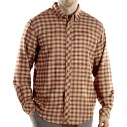 ExOfficio Pocatello Plaid Micro Shirt - Long Sleeve (For Men) in Rust