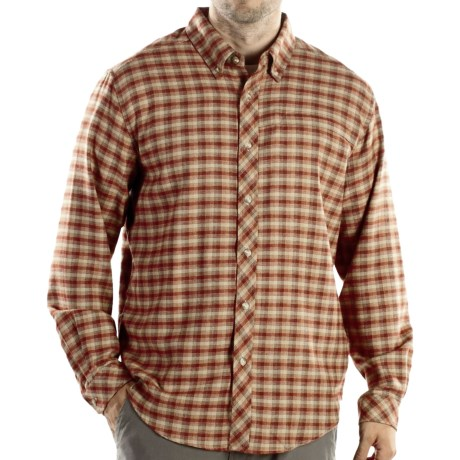 ExOfficio Pocatello Plaid Micro Shirt - Long Sleeve (For Men) in Rust