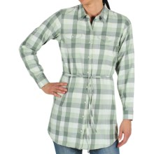 ExOfficio Pocatello Plaid Tunic Shirt - Long Roll-Up Sleeve (For Women) in Rosemary - Closeouts