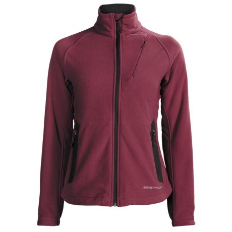 ExOfficio Polartec® Wind Pro® Wind Logic Jacket - Chamois Fleece (For Women) in Wine