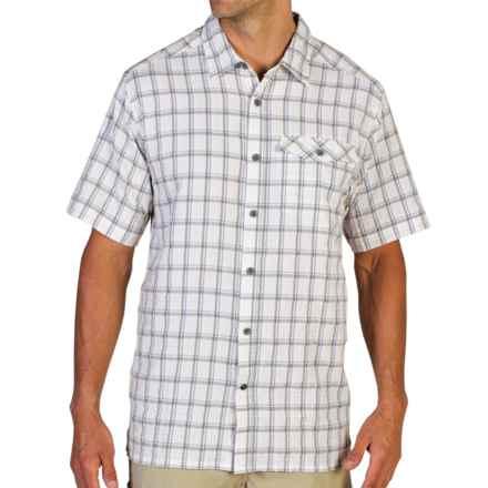 ExOfficio Quadrant Plaid Shirt - UPF 20+, Short Sleeve (For Men) in White - Closeouts
